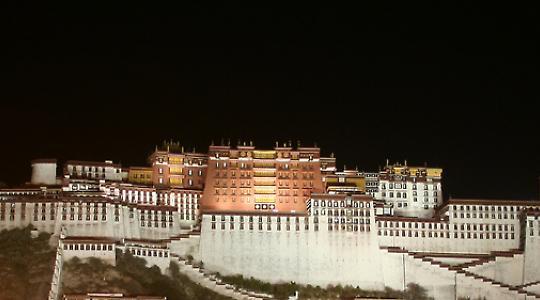 Potala Palast in Lhasa, Tibet <br/>Bild von ironmanixs
