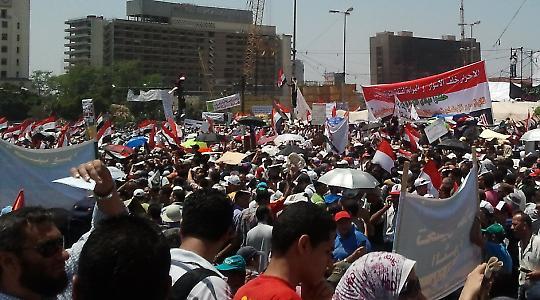 Protestdemo gegen die Reformverschleppung. Tahrirplatz Kairo, am 8. Juli 2011