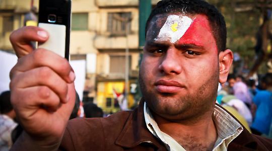 """Beim """"Marsch der Millionen"""" in Kairo"""