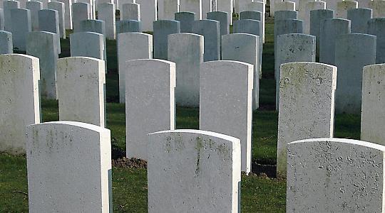 Kriegsgräberfeld in Belgien
