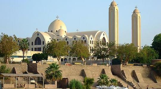 Koptische Kirche in Assuan, Ägypten <br/>Foto von David Ooms