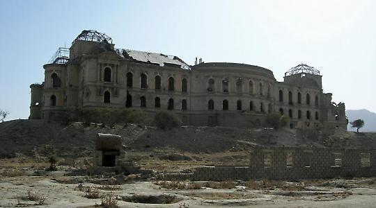 Darulaman-Palast in Kabul <br/>Foto von von Carl Montgomery