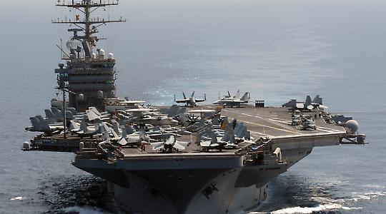 Zur Zeit im Persischen Golf: USS Abraham Lincoln