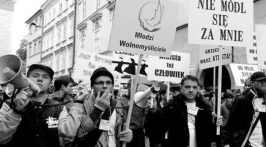 """""""Bete nicht für mich"""": Demonstration in Krakau"""