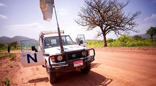 Jeep der UNO im Südsudan <br/>Foto von sidelife