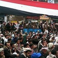 Sit-In in Sana'a im März