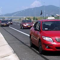 Demonstration der Taxi-Fahrer am 18. Juli