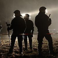 Polizei beim Castor-Einsatz Ende 2011