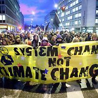 Demonstration beim Klimagipfel in Kopenhagen <br/>Foto von kk+