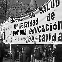 """""""Für eine gute Bildung"""": Protest in Santiago"""