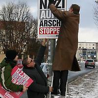 """Plakatierungsaktion in Erfurt <br/>Foto von """"Hier ist DIE LINKE"""""""