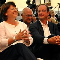 Wer wird Kandidat? Martine Aubry, François Hollande